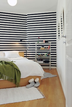 Best 25 striped accent walls ideas on pinterest striped - Pink and white striped wallpaper bedroom ...