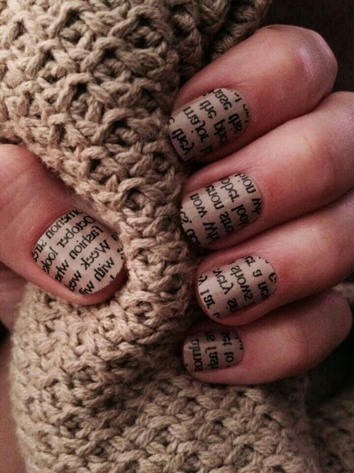 13 best Read All About It: Newspaper Nail Art images on Pinterest ...