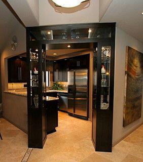 Dark/espresso Wood Paneled Doorway.. Rebecca Robeson Design Part 53