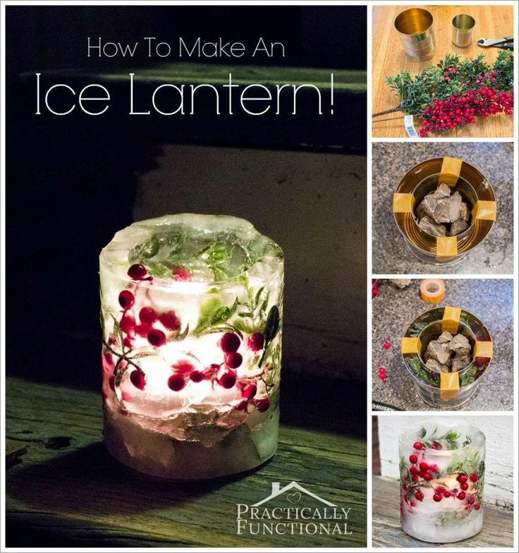Make This Stunning Ice Lantern Before Winter Ends