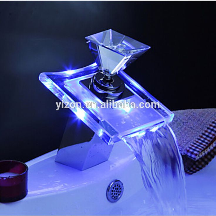 wow! waterfall faucet with led light