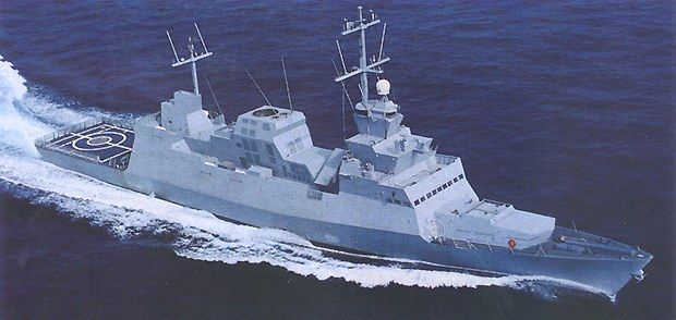 Israeli Saar 5 is around 1000-1300 tonnage, length of approximately 85 metres, crew complement of 75 and width 11.9 metres. The weapon carriage is extensive(though this the Israeli navy's top of the line ship);  Armament:  8 RGM-84 Harpoon anti-ship missiles  64 Barak surface-to-air missiles(i reckon they will be replaced by Barak 8 later)  Phalanx CIWS  2 Mark 32 SVTTs (6 tubes)  Aircraft carried: Eurocopter Panther  Aviation facilities: Helipad and helicopter hangar