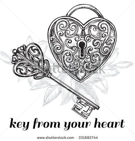 The Vector Illustration Hand Drawn Sketch Key And Lock