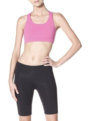 41% OFF Zobha Women's Anya Bra (Bright Fuchsia/Black)