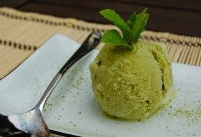 Segarnya green tea ice cream!