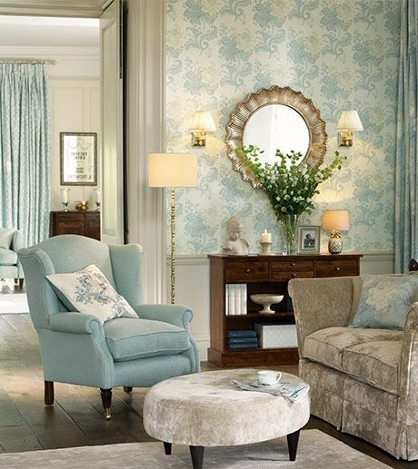 duck egg and cream living room interior design decor 25177