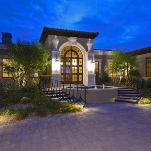 terrific exterior uplighting. Double stairs  lighting mediterranean entry by Carson Poetzl Inc 21 best Outdoor Lighting images on Pinterest