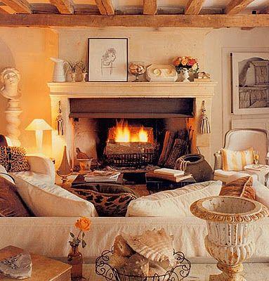 Warm & Inviting Living Room  pinned by www.cedarhillfarmhouse.com