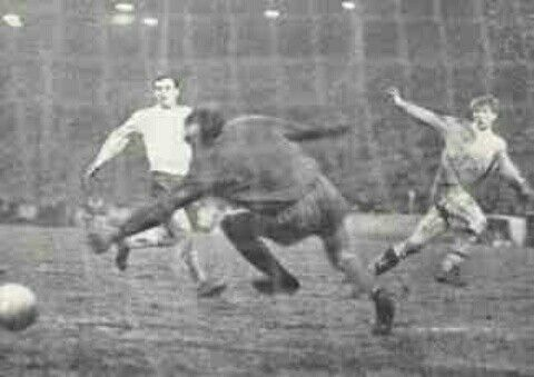 Man City 3 Cardiff City 1 in Feb 1967 at Maine Road. Colin Bell scores Man City's equaliser in the FA Cup 4th Round Replay.