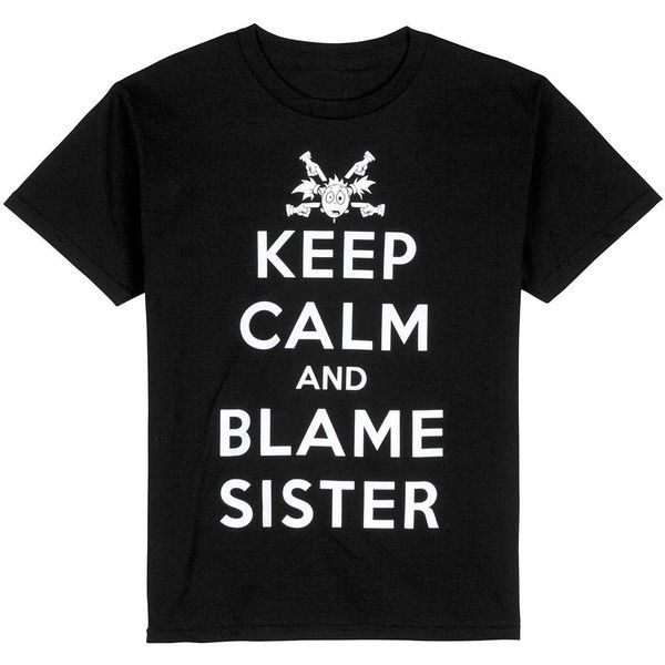 """Urban Pipeline """"Keep Calm and Blame Sister"""" Tee Boys 8-20 ❤ liked on Polyvore featuring tween boy"""