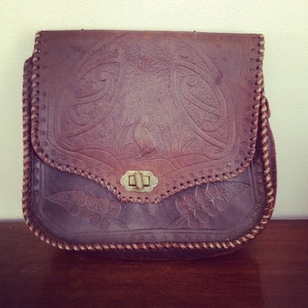 kiwiana tooled bag