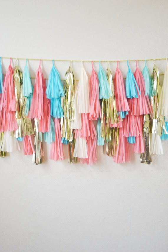 Tassel banner; change colors to gold, yellow, navy blue, mint green, and maybe neon pink