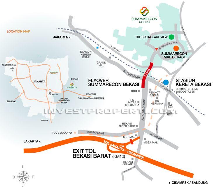 Summarecon Bekasi Apartemen location map.