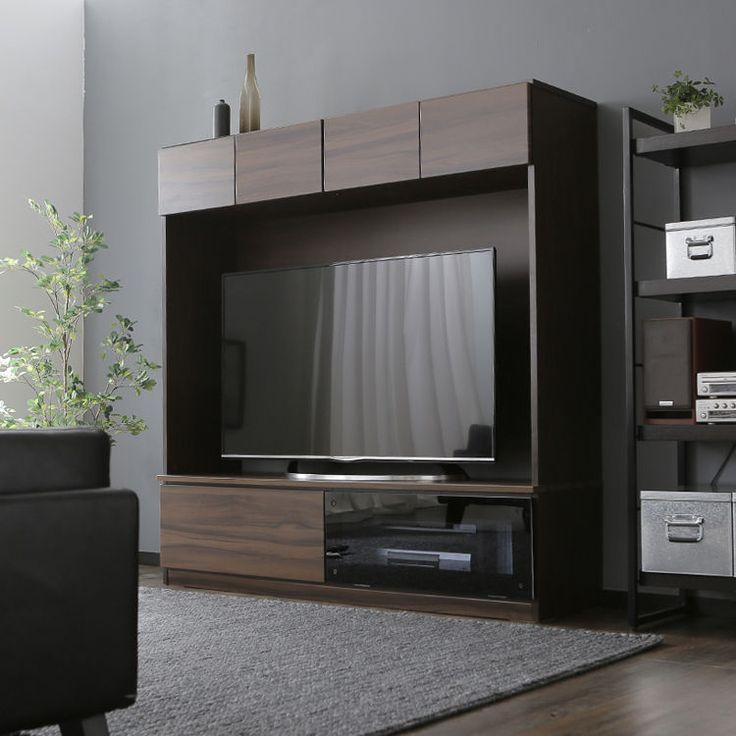 北欧デザインのナチュラルな木の温もりと柔らかなムード。お部屋がまるで森のシアタールームに変身するハイタイプの壁面収納テレビ台!