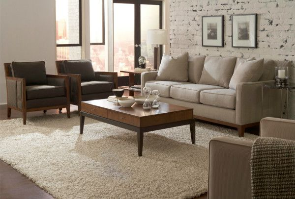 Furniture Decorative Broyhill Living Room Furniture Sets Using White Linen  Sofa Also Leather And Wood Armchair Toward Wooden Coffee Tablu2026