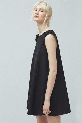 Mango - Sukienka krótka trapezowy krój Plug