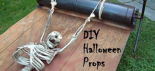 halloween props made with paper mache