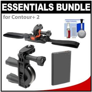 Another great product: Essentials Bundle for Contour+ 2 Action Camcorder with Handlebar Bike & Vented Helmet Mounts + Battery + Cleaning Kit The Vivitar Pro Series ATV/Bike Handlebar Bracket allows users to securely mount an action camera to handlebars of various sizes. Designed with a polyurethane bushing  the mount reduces vibrations and ensures non-slip performance. Sizing is adjustable to grip handlebars from 0.75 (1.87cm) to 1.4 (3.55cm). The Vivitar Pro Series Vented He