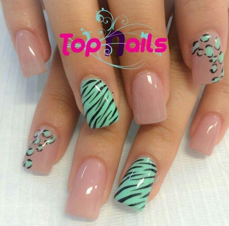 1000 ideas about u as menta on pinterest nails u as for Decorado de unas facil y sencillo