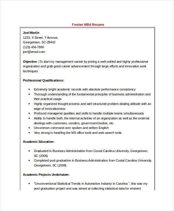 High Quality The Best Resume Format For Freshers Ideas On