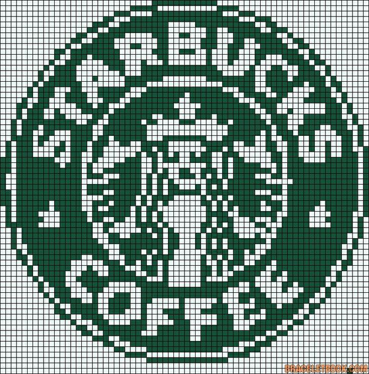 Cross stitch/hama/perler - Starbucks coffee old logo