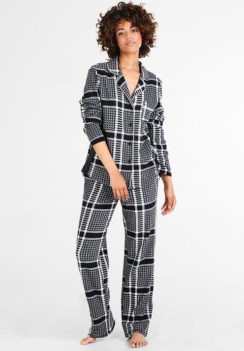 DKNY Intimates NOTCH SET - Pyjamas -  black plaid - Zalando.se