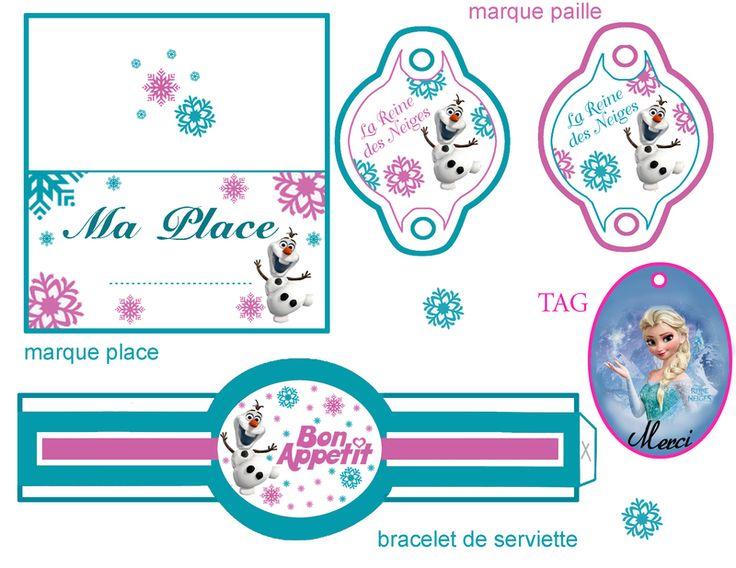 Décoration de table reine des neiges - sweet table frozen