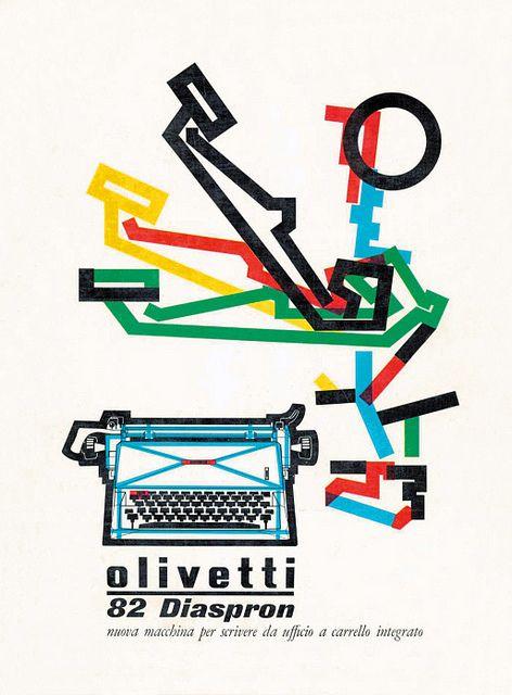 Olivetti Diaspron 82 Poster by ninonbooks, via Flickr