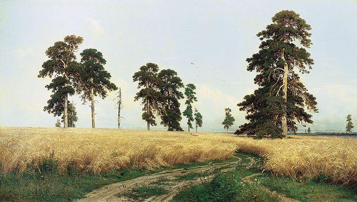 The Rye Field (Рожь) by Ivan Shishkin