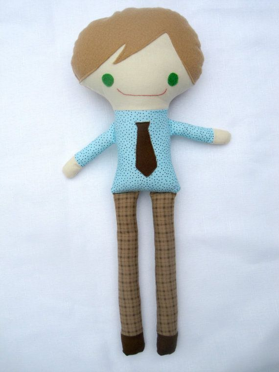 Custom Handmade Boy Cloth Doll by SewSheriSew on Etsy