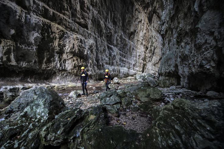 """Walking through the Bogutovski potok canyon at the Morachke Platije mountain in Montenegro. At this time, we are focused on the region of Serbia and Montenegro where most of the known and unknown canyons are located."""