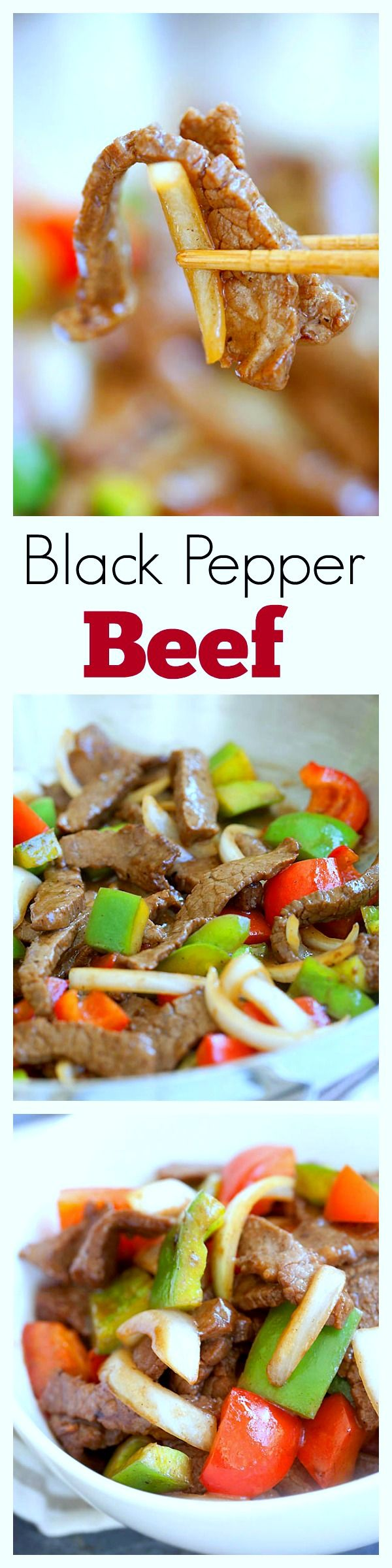 Easy black pepper beef recipe - delicious Chinese black pepper steak that takes 20 mins and much better than takeout | rasamalaysia.com