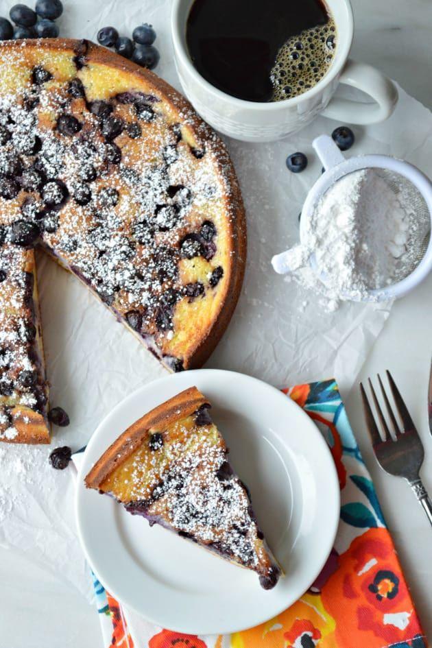 Blueberry Breakfast Cake works wonderfully with fresh or frozen blueberries. Enjoy all year 'round!