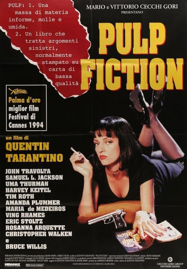 Pulp Fiction 1994 Pulp Fiction Fiction Movies Movie Posters