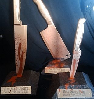 Butcher knife costume contest trophies