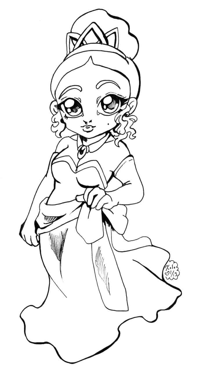 Coloring Pages Baby Tiana In 2020 Cartoon Coloring Pages Unicorn Coloring Pages Princess Coloring Pages