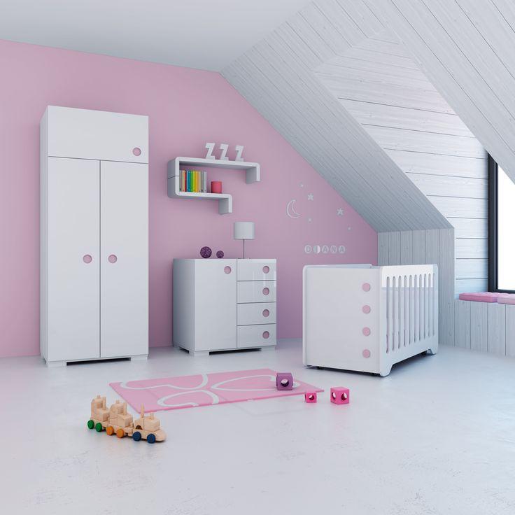 21 best pink kids room images on pinterest baby rooms - Habitaciones de princesas ...