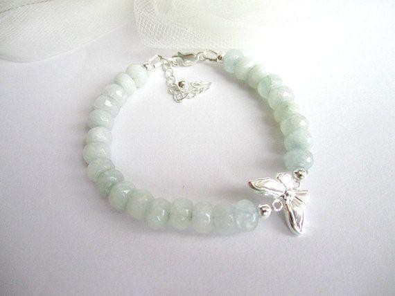 Aquamarine bracelet sterling silver 925 by MalinaCapricciosa