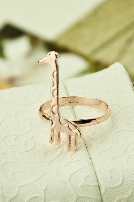 Giraffe Ring Jewelry Ring Little finger ring