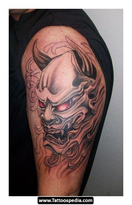 oni oni mask demon mask tattoo