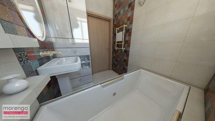 projekt wnętrza łazienki http://marengo-architektura.pl/portfolio/architekt-wnetrz-krakow-lazienka/