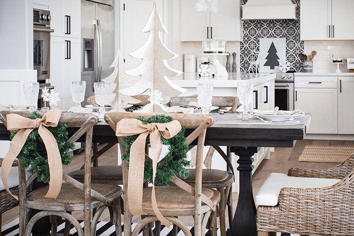 Белое Рождество в гармонии с природой в Техасе | Пуфик - блог о дизайне интерьера