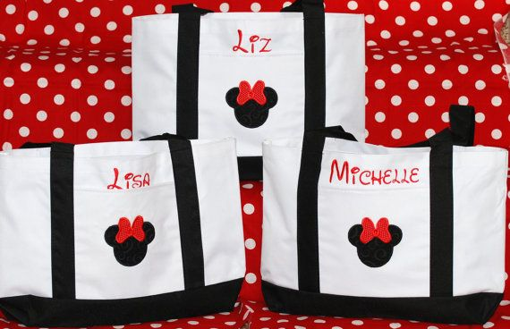Disney personalized tote bags wedding by GigglesandLollipops, $150.00