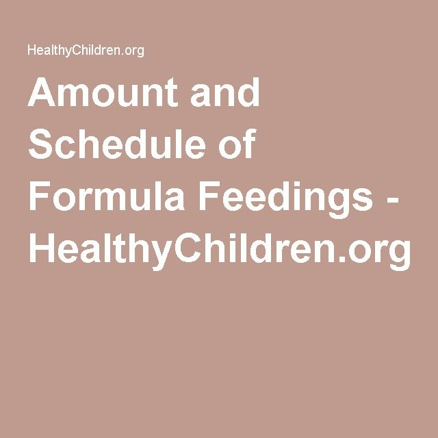 baby formula feeding chart