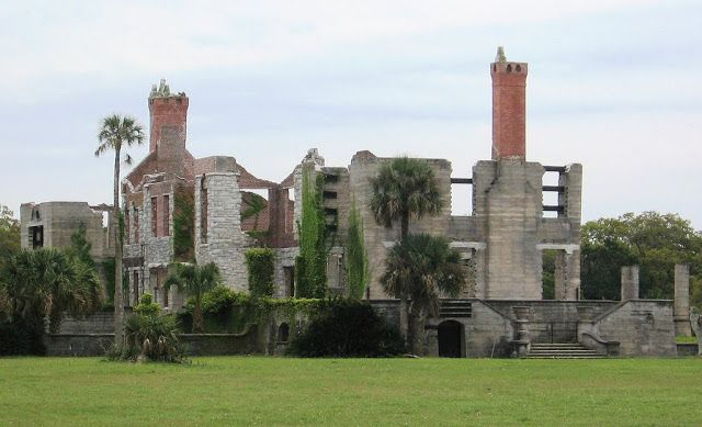 Las ruinas de la isla de Cumberland -  #EstadosUnidos #Georgia #GuerraCivil #Islas #JamesOglethorpe #LaGranDepresi #Mansiones #NathanielGreene #Ruinas