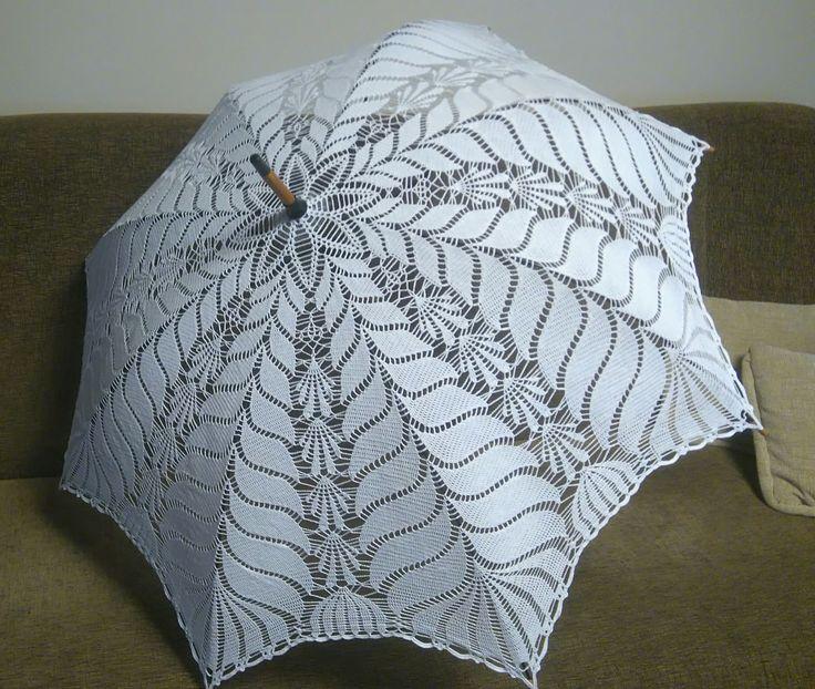 parasolka szydełkowa
