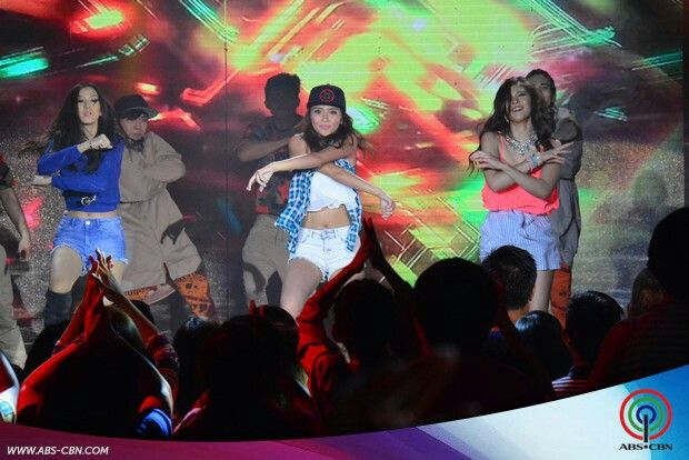 """This is Alex Gonzaga, Kathryn Bernardo, and Janella Salvador dancing to """"Watch Me (Whip/Nae-Nae)"""" by Silentó during their production number for ASAP Supahdance during ASAP at ABS-CBN Studio 10 last June 28, 2015. Indeed, Alex, Kathryn, and Janella are my favourite Kapamilyas and they're amazing Star Magic talents and good dancers. #KathrynBernardo #TeenQueen #AlexGonzaga #IAmAlexG #JanellaSalvador #WatchMeWhipNaeNae #NaeNae #ASAP20"""