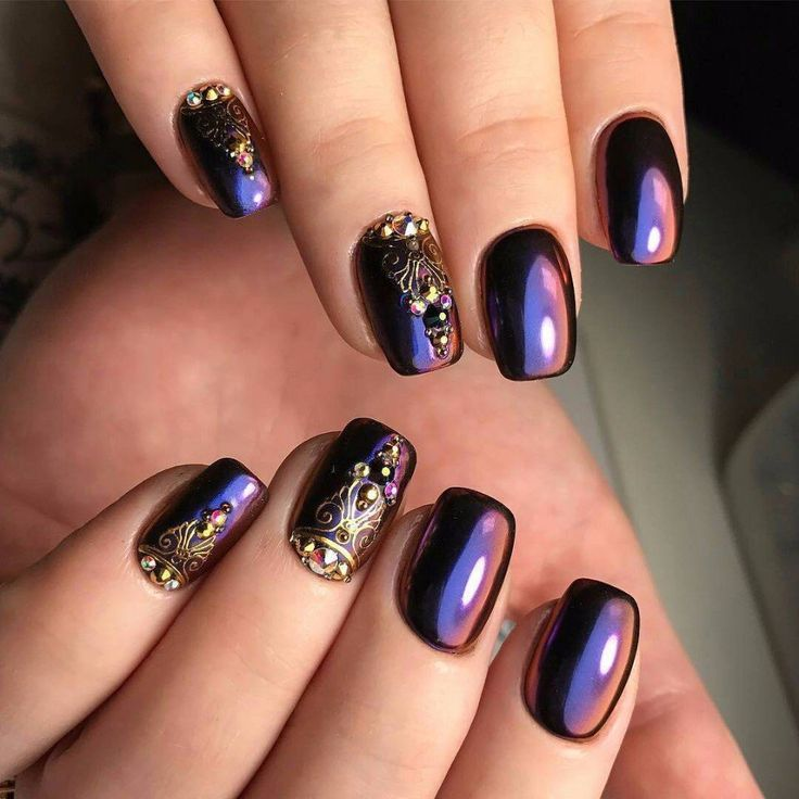 60 best Chrome Nails images on Pinterest | Coffin nails, Cute nails ...