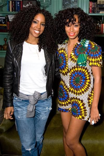 Kelly Rowland and Solange Knowles