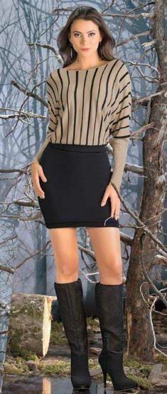 Vestido corto para otoño que siluma dos piezas